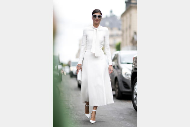 Street style à Paris : le total look blanc