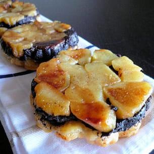 tatins de boudin noir aux pommes