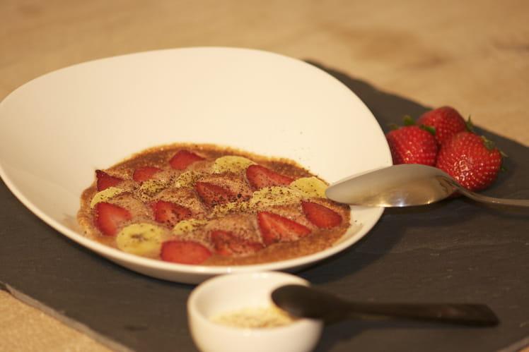 Gratin fraises-bananes au chocolat
