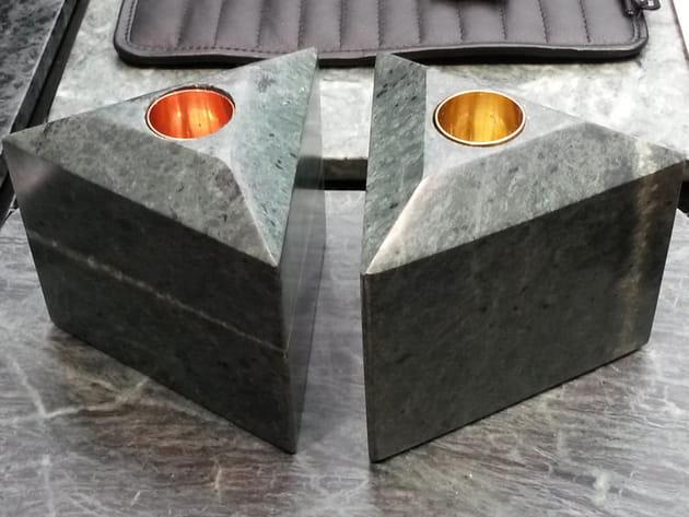 Bougeoir en granit de Louise Roe Copenhagen