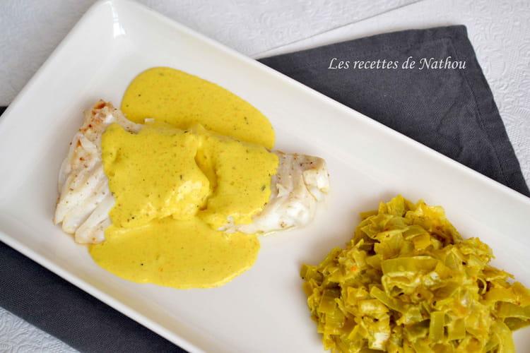 Recette de dos de cabillaud et fondue de poireaux au colombo la recette facile - Cuisiner des dos de cabillaud ...