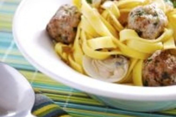 Recette de tagliatelles de veau et coques la recette facile - Cuisiner le tendron de veau ...