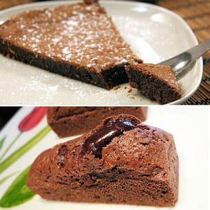 fondant au chocolat et mini fondants au chocolat