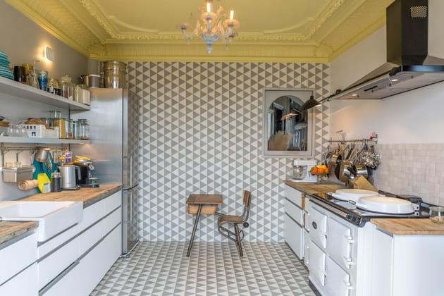Une cuisine qui voit grand