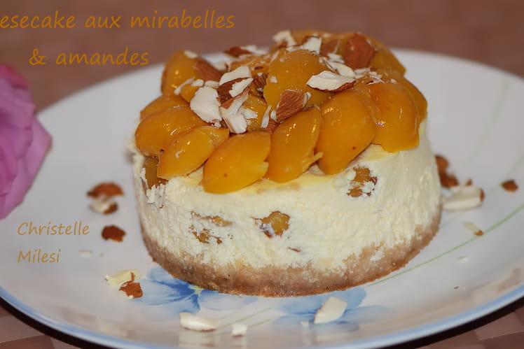 Cheesecake aux mirabelles et amandes