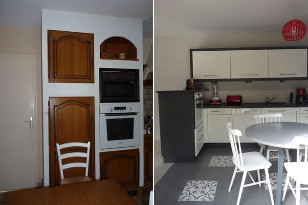 Les placards de cuisine : avant-après