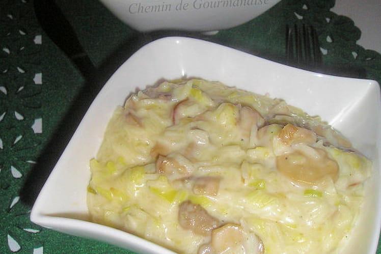 Risotto poireaux champignons