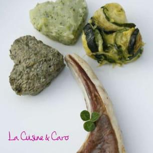 côte d'agneau et légumes verts de la saint-patrick