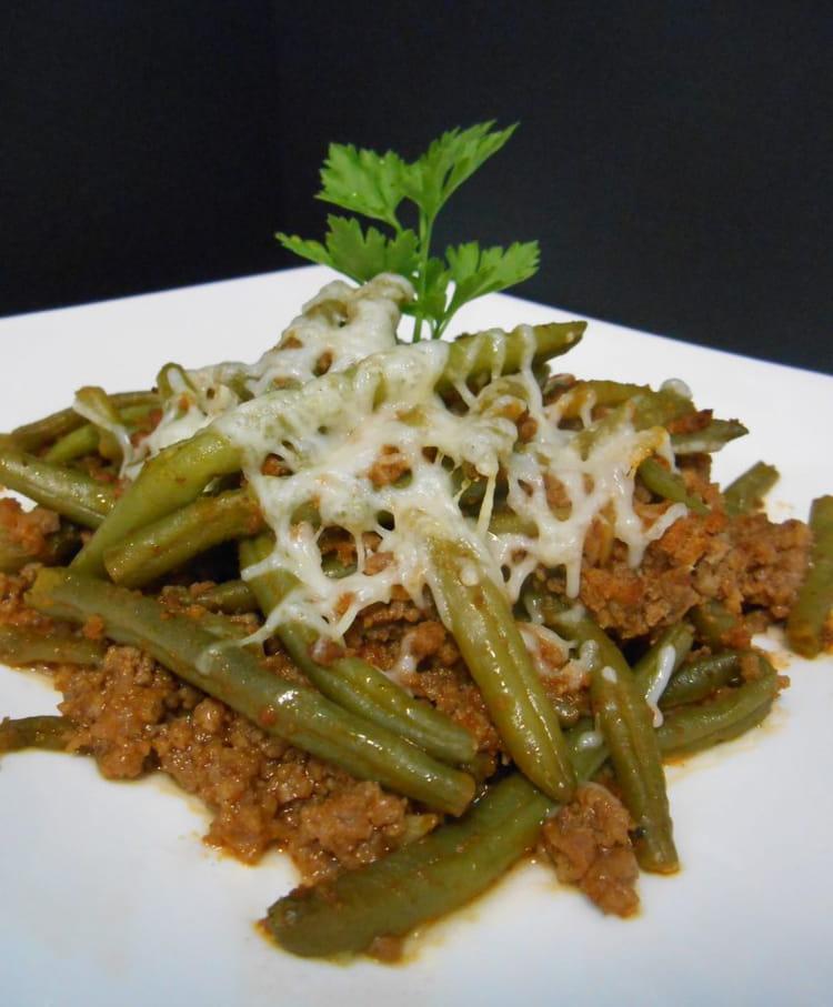 Recette de haricots verts la bolognaise la recette facile - Cuisiner haricots verts surgeles ...