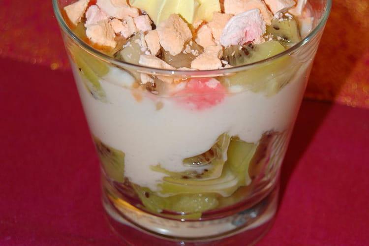 Verrine kiwis et noix de coco