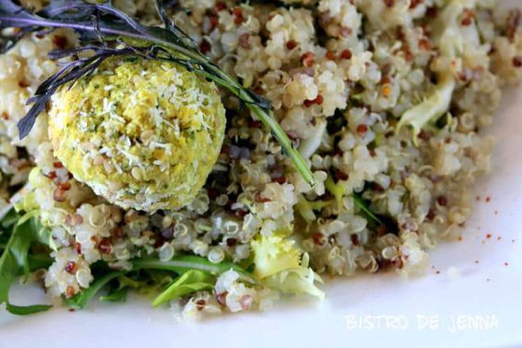 Salade de quinoa et falafels vegan