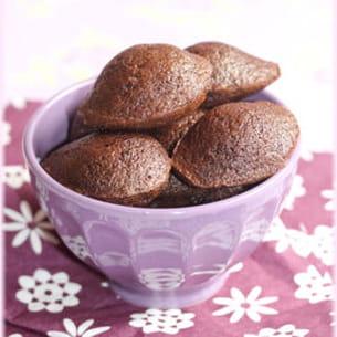 mini-madeleines au chocolat