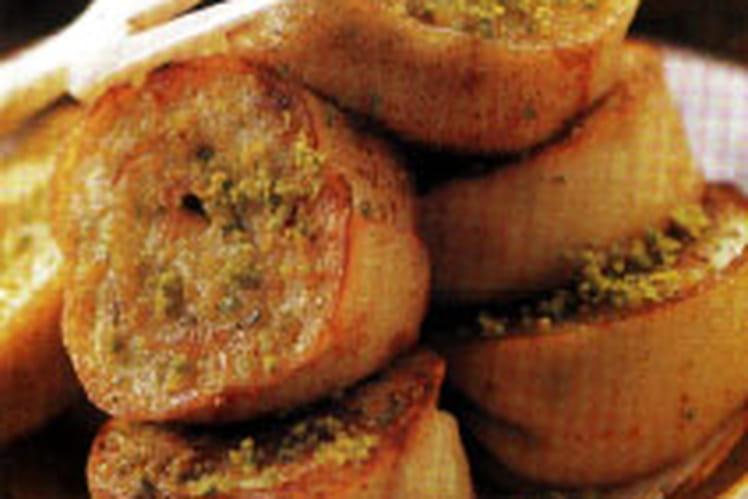 Crêpes croustillantes à la pistache