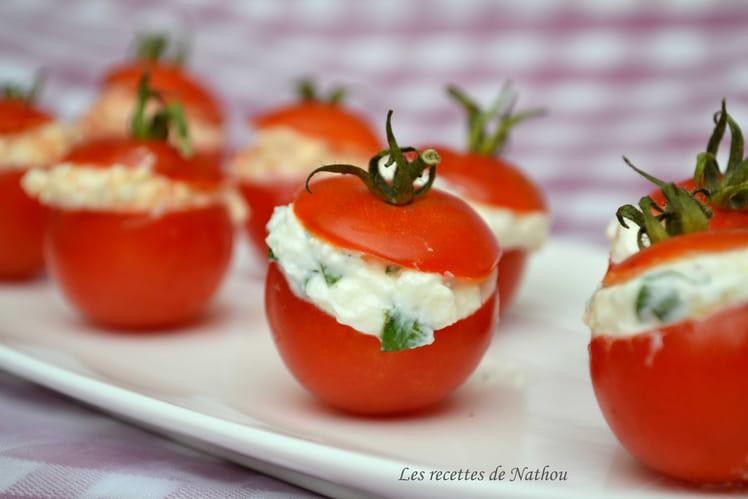 Tomates cerise farcies à la feta, saveur basilic ou piment