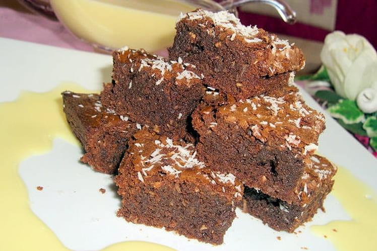Brownies chocolat-coco