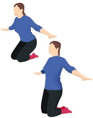 durant cet exercice, vos bras ne bougent pas.