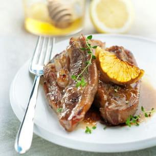 tendrons de veau marinés au citron, miel et thym