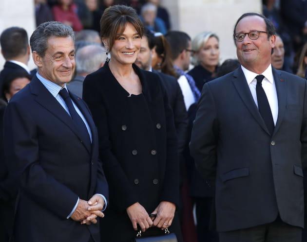 Nicolas Sarkozy, Carla Bruni-Sarkozy et François Hollande