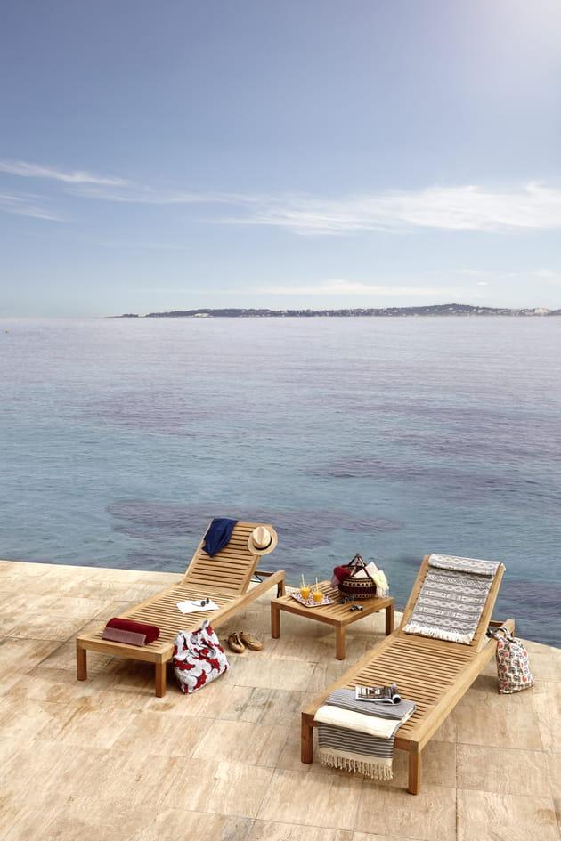 chaise longue en teck par habitat. Black Bedroom Furniture Sets. Home Design Ideas