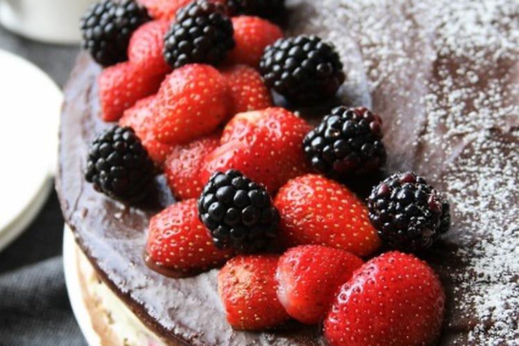 Gâteau aux mûres et sa mousse à la menthe sans gluten