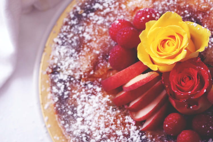 Crème brûlée façon cheesecake aux fruits