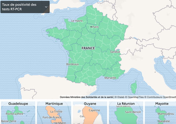 Covid-Card-France-Test-Częstotliwość-dodatnia