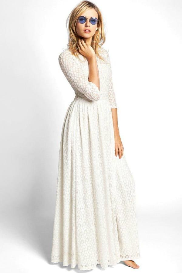 Robe dentelle blanche la redoute