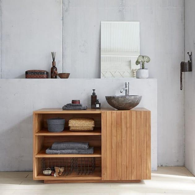 Un meuble vasque naturel