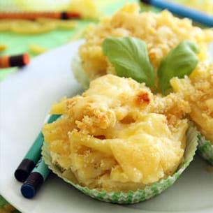 muffins de macaroni au fromage