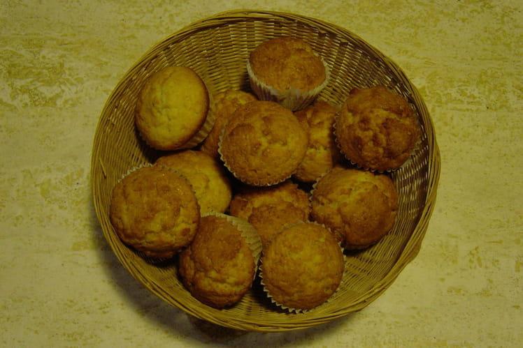 Muffins à l'amande et fleur d'oranger