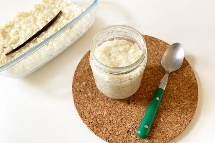 Riz au lait crémeux à la vanille