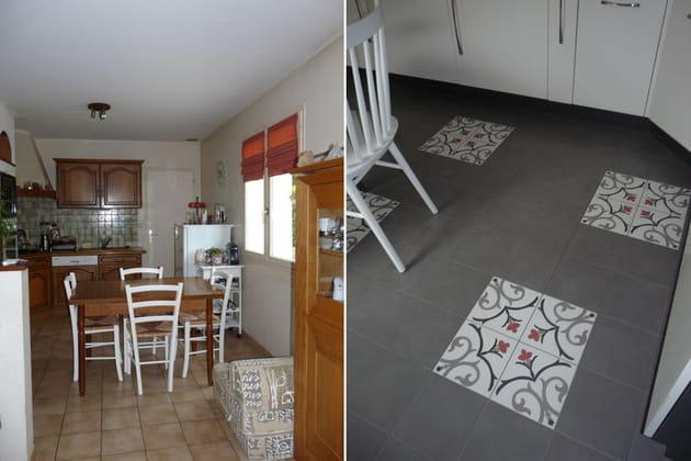 Le carrelage de cuisine : avant-après
