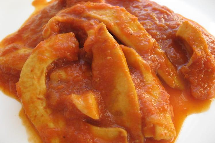 Curry de lamelles d'encornets