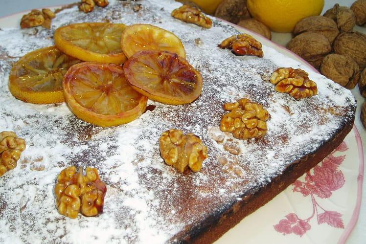 Carré aux noix et citron