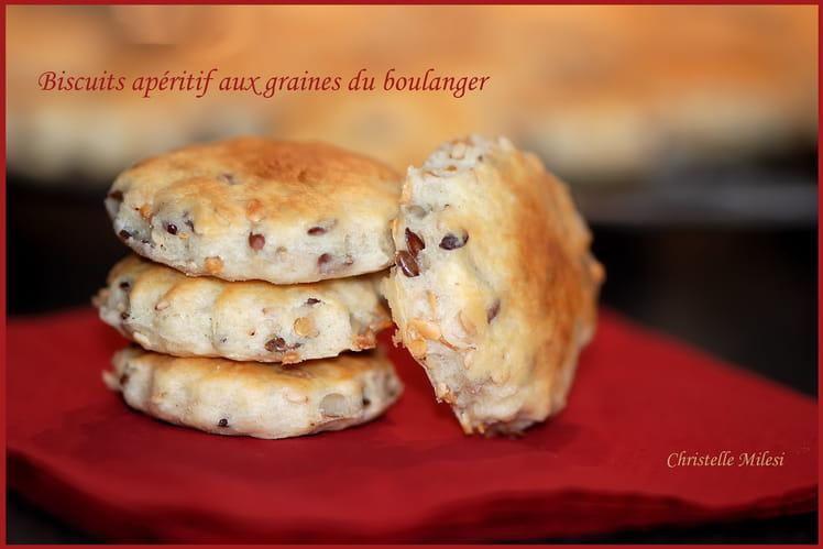 Biscuits apéritif aux graines du boulanger
