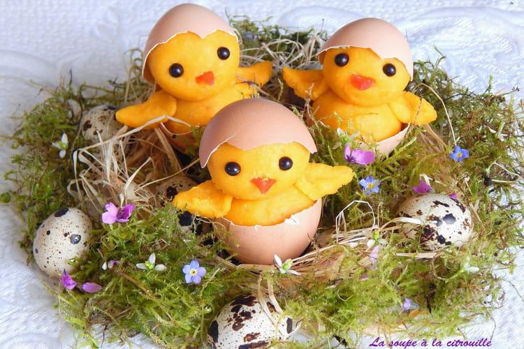 Poussins de Pâques en pâte d'amande