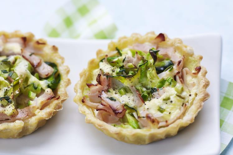 Mini-tartelettes courgettes et Blanc de Dinde Rôti Aoste