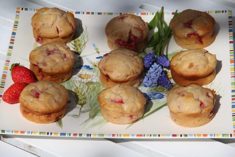 Muffins aux fraises à l'huile d'olive