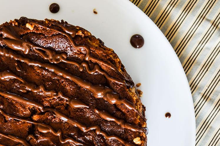 Cheesecake-brownie vanille et chocolat