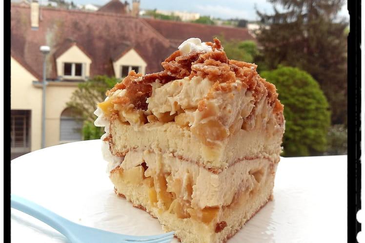 Gâteau génoise vanille et pomme