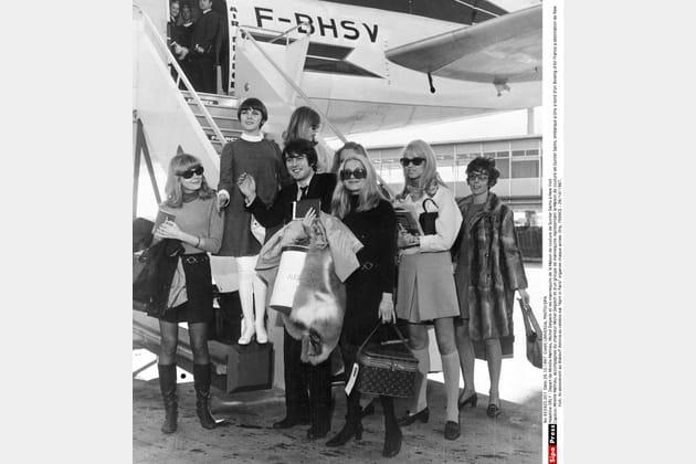 Avec Mireille Mathieu, en 1967