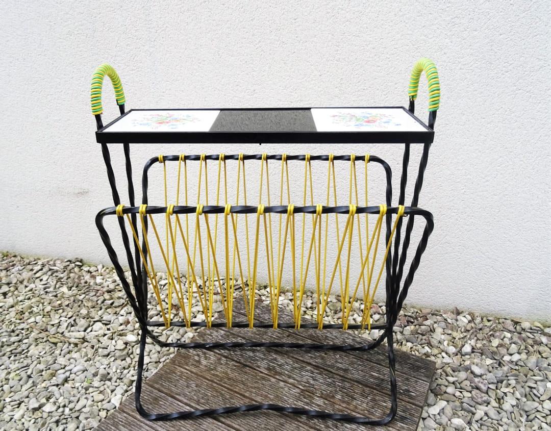porte-revue-scoubidou-jaune-vert-etsy