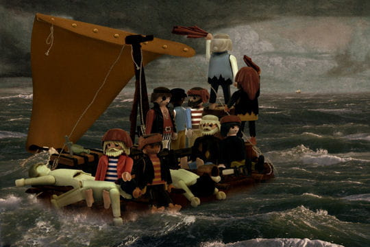 Le radeau de la méduse version Playmobil par Richard Unglik