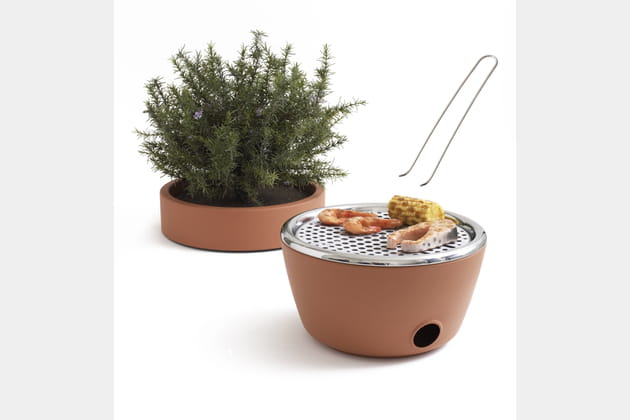 Barbecue pot de fleur de Nature&Découvertes