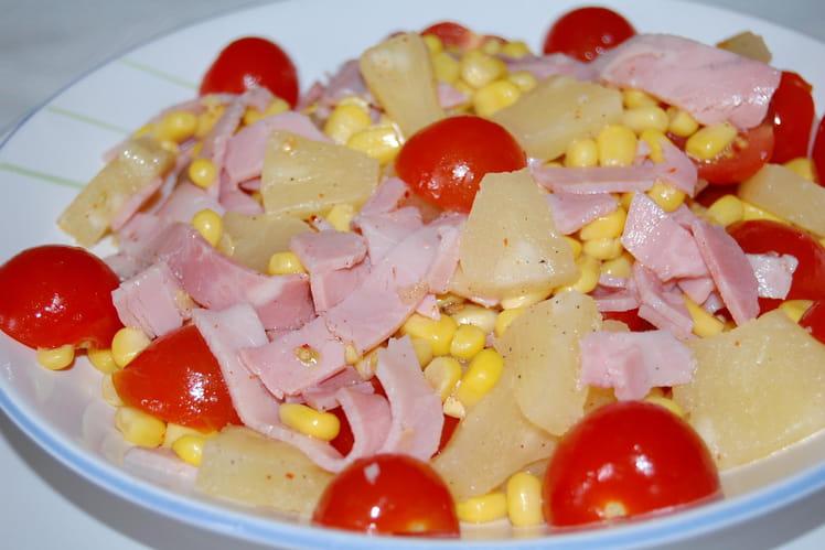 Salade saveurs sucrée-salée