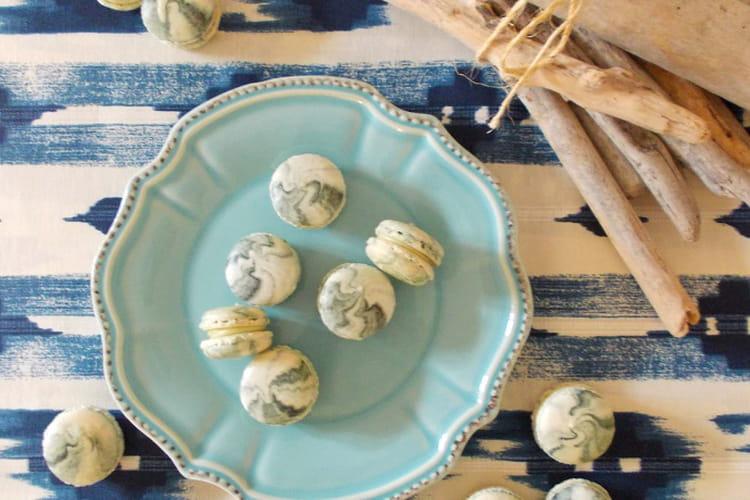 Macarons chocolat blanc et poivre de Sarawak