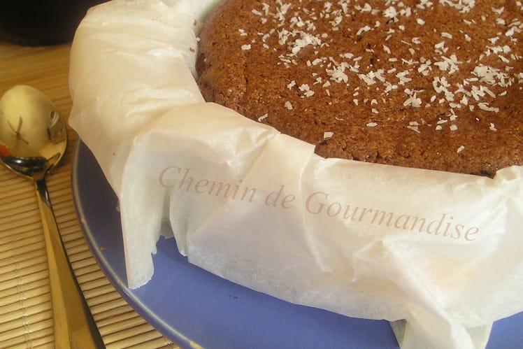 Cheesecake chocolat et noix de coco