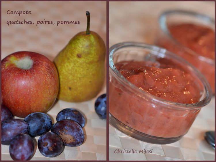 recette de compote quetsches poires pommes la recette facile. Black Bedroom Furniture Sets. Home Design Ideas