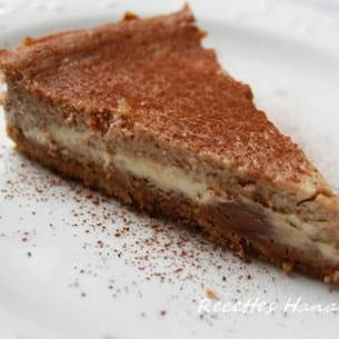 cheesecake à la pralinoise et au chocolat blanc