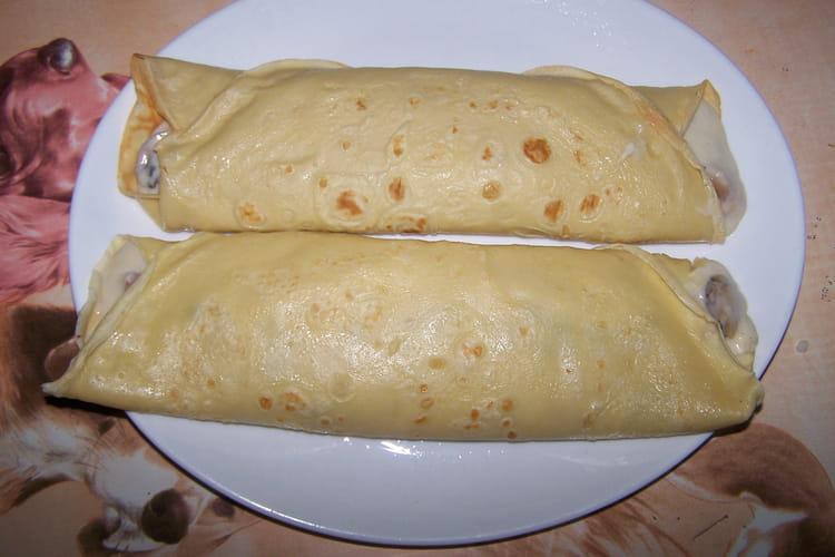 Crêpe jambon-champignon, sauce béchamel
